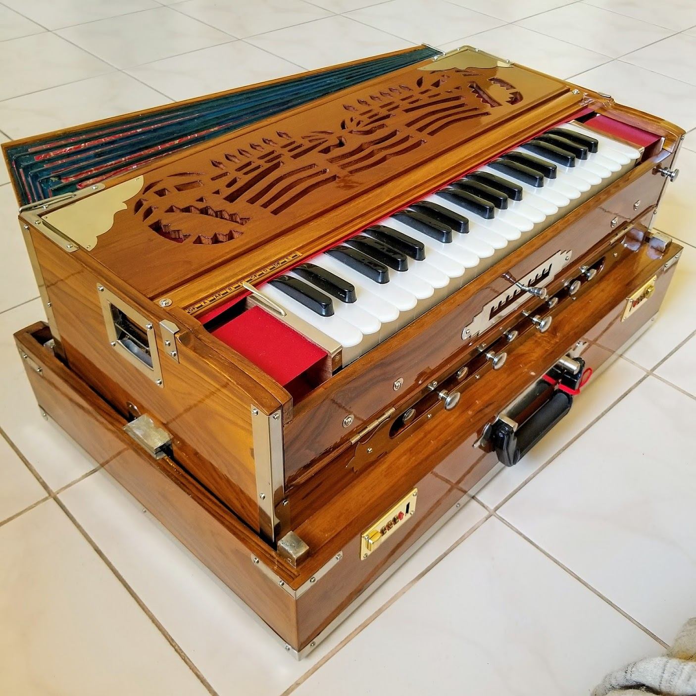 Temple harmonium - Indian reeds